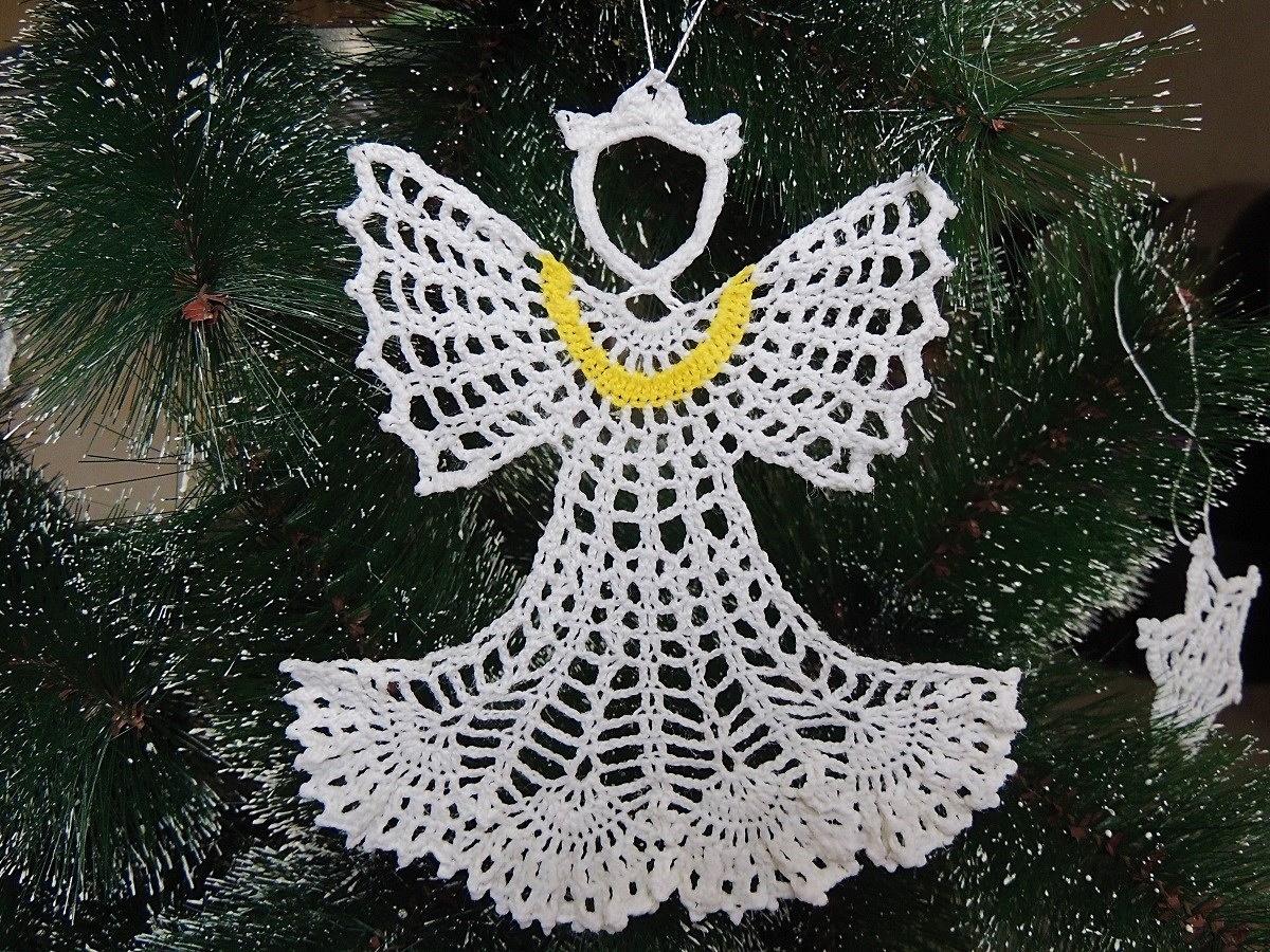 вязаный ангел схема для вязания крючком и описание статьи