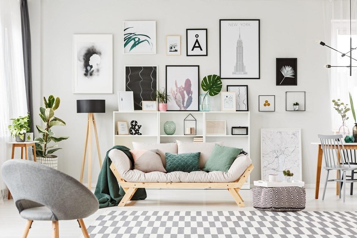 Правильное расположение картин на стене