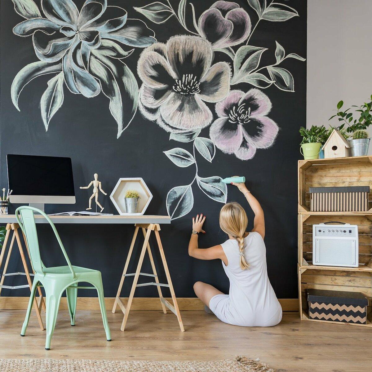 Рисунки на стенах в квартире фото идеи