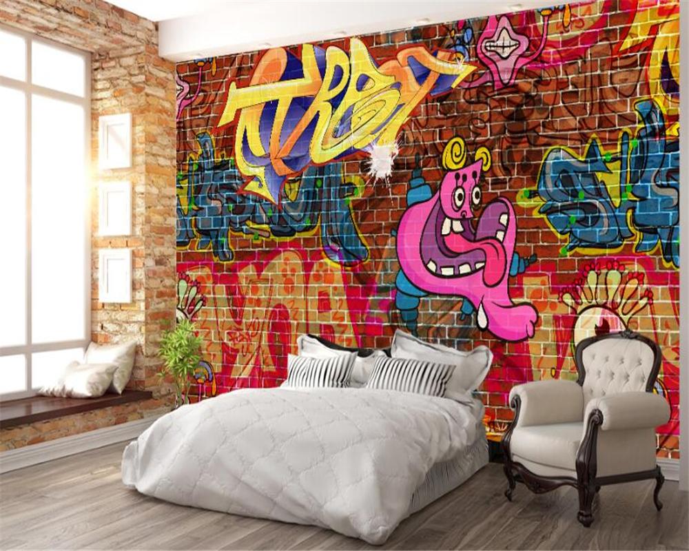фотообои рисунок на кирпичной стене такое