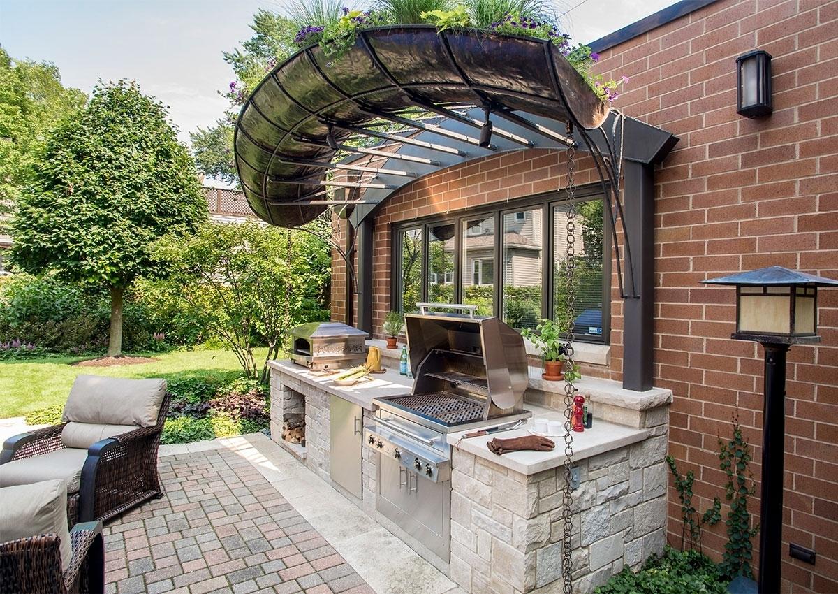 заветного крытые барбекю в саду фото вот