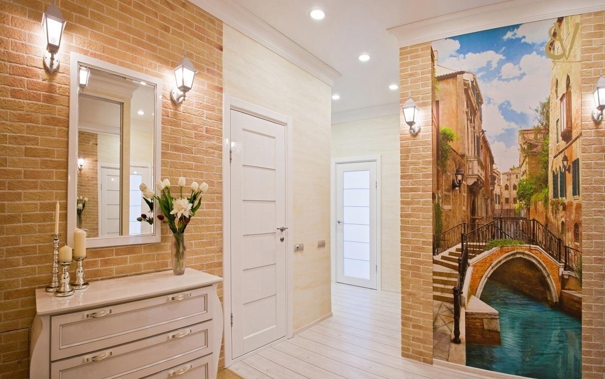 Дизайн коридора с фотообоями